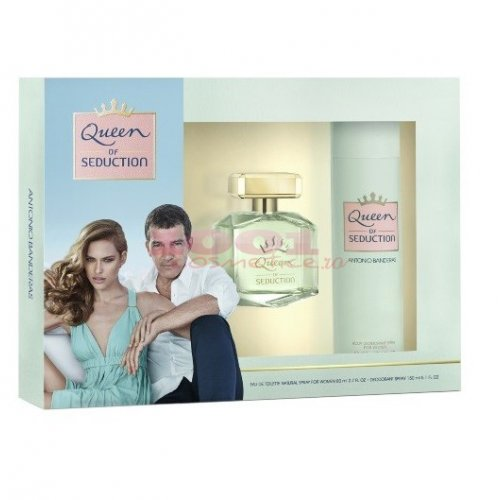 ANTONIO BANDERAS QUEEN OF SEDUCTION EDT 80 ML + DEODORANT SPRAY 150 ML SET