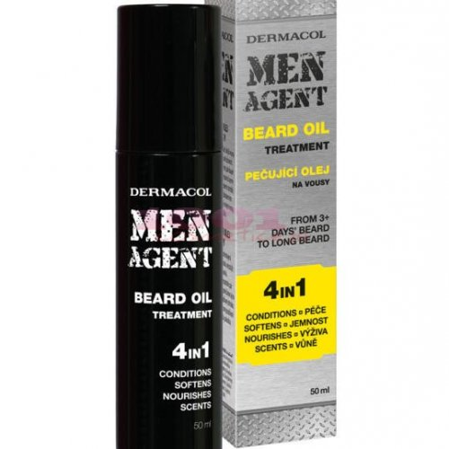 DERMACOL MEN AGENT BEARD OIL TREATMENT 4IN1 ULEI HIDRATANT PENTRU BARBA