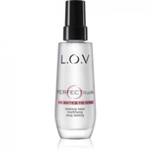 L.O.V. PERFECTitude spray de fixare si matifiere make-up 3 in 1