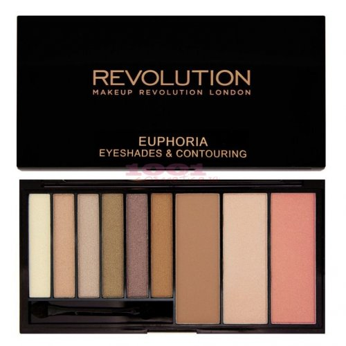 MAKEUP REVOLUTION I LOVE MAKEUP EUPHORIA BRONZED EYESHADES & CONTOURING PALETTE