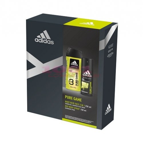 adidas PURE GAME DEODORANT BODY SPRAY 150 ML + GEL DE DUS 250 ML SET