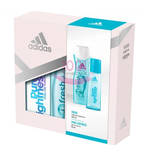 adidas WOMEN PURE LIGHTNESS EDT 50 ML + GEL DE DUS 250 ML SET
