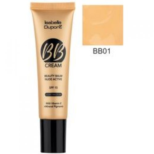 Balsam Corector Isabelle Dupont Paris BB Cream Nude Active, nuanta BB01 Light Beige, 30ml