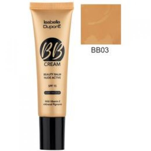Balsam Corector Isabelle Dupont Paris BB Cream Nude Active, nuanta BB03 Hazelnut, 30ml