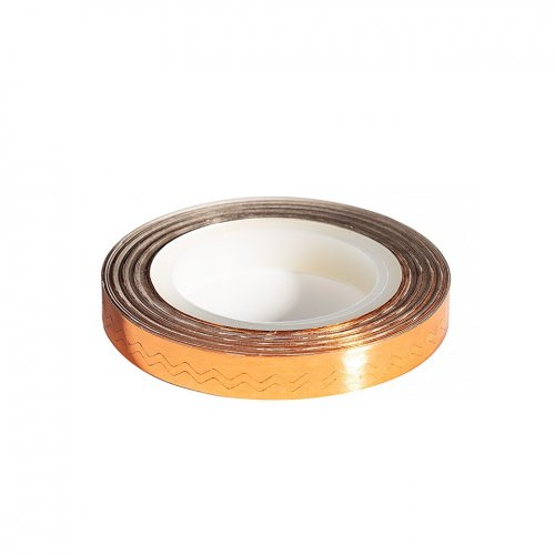 Banda Decor Unghii - Copper Waves Line