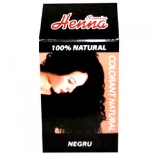 Colorant Natural Henna Sonia, Negru, 100 g