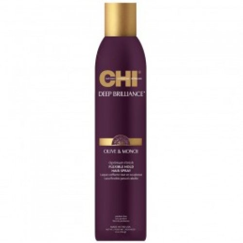 Fixativ cu Fixare Flexibila - CHI Farouk Olive & Monoi Optimum Finish Hairspray 284 ml