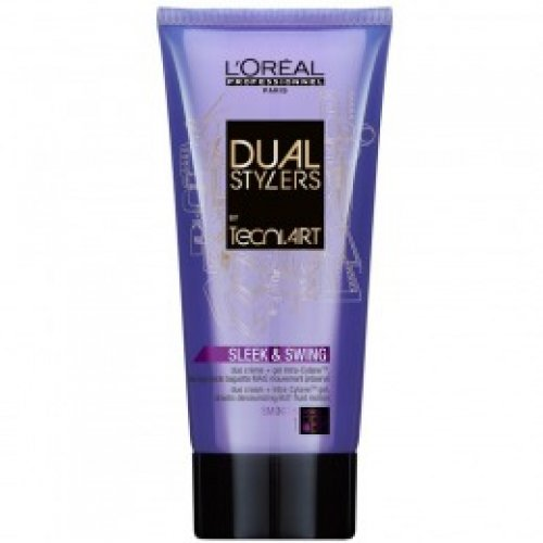 Gel - Crema pentru Netezire - L'Oreal Professionnel Tecni Art Sleek & Swing Duo Cream + Gel 150 ml