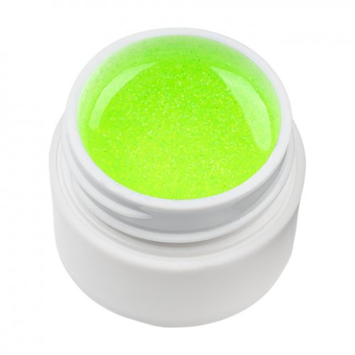 Gel UV Color cu Sclipici ENS PRO #021 - Green Neon