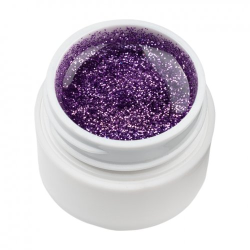 Gel UV Color cu Sclipici ENS PRO #025 - Titan Violet