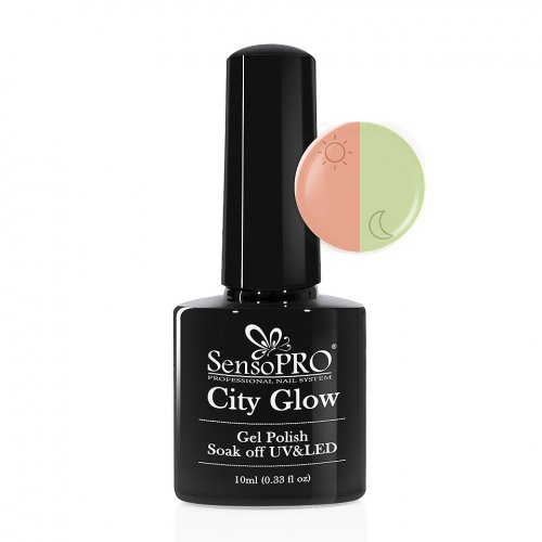 Oja Semipermanenta City Glow SensoPRO 10ml #04 Fresh Peach
