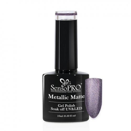 Oja Semipermanenta Metallic Matte SensoPRO 10ml, Dark Lava #01