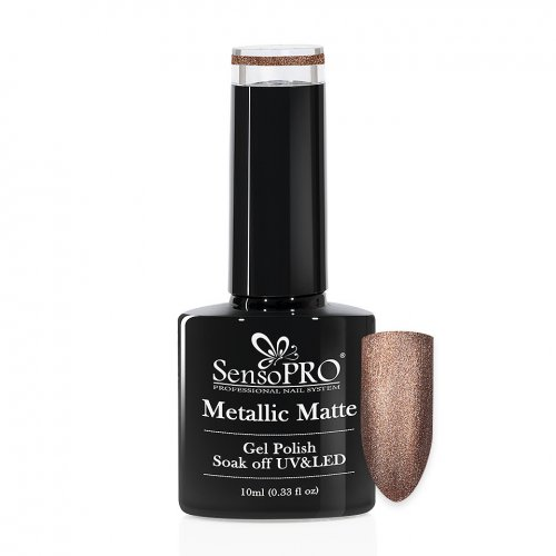 Oja Semipermanenta Metallic Matte SensoPRO 10ml, Twilight Dough #012