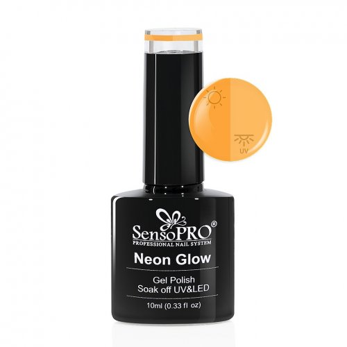 Oja Semipermanenta Neon Glow SensoPRO 10ml #02 Delicious Orange