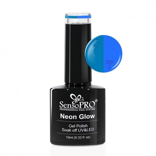 Oja Semipermanenta Neon Glow SensoPRO 10ml #19 Delicious Blueberry
