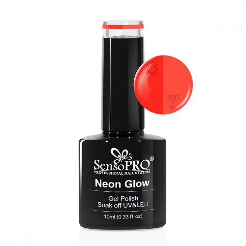 Oja Semipermanenta Neon Glow SensoPRO 10ml #24 Delicious Watermelon