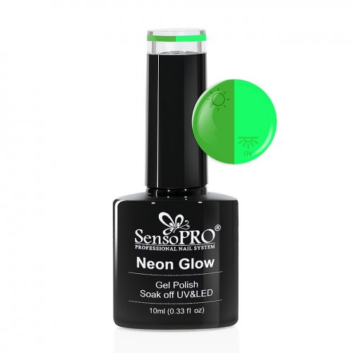 Oja Semipermanenta Neon Glow SensoPRO 10ml #29 Delicious Avocado