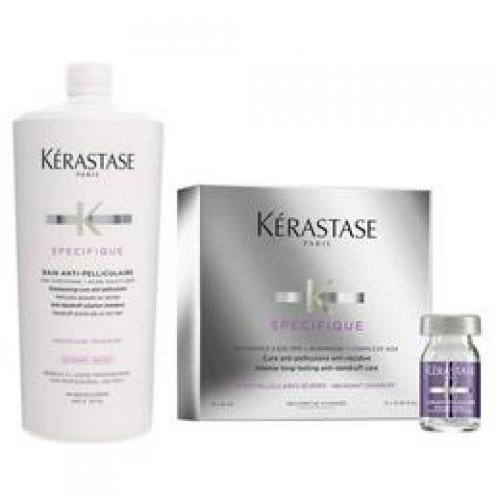 Pachet Antimatreata Kerastase Specifique - Sampon 1000ml, Tratament 12 x 6ml