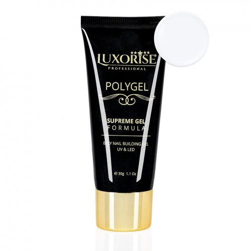 Polygel Supreme Gel LUXORISE, Pure White LX018