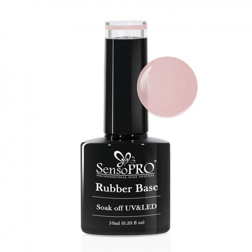 Rubber Base Gel SensoPRO Italia 10ml, #04 Irresistible Nude