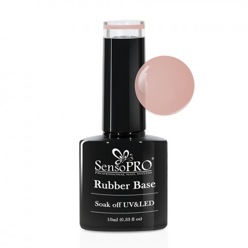 Rubber Base Gel SensoPRO Italia 10ml, #26 Pastel Nude